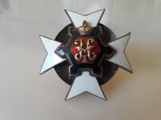 Badge of officer from the school Nicolaevsky - created on June 14, 1866. Silver - Rare