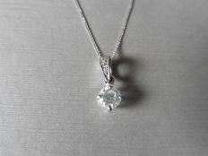 18ct Gold Diamond Set Pendant - 1.00ct / 0.033ct
