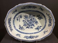 Blue and White Salad Bowl - China - 18th Century