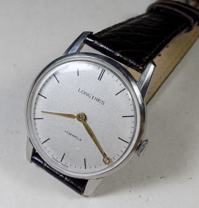 Longines 847.4 - Fish Logo - Pattern Dial - 1970's - Men's Wristwatch