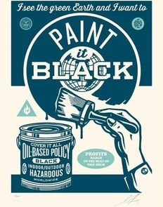 Shepard Fairey (OBEY) - Paint it Black