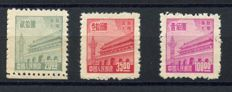 North East China 1950 - Tian An Men $20, $35, $100 - Michel (Kuantung) 81, 82 and 84