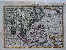India; A. Ortelius / Ph. Galle - Indiae Orientalis (...) - 1588
