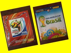 Panini - Fifa World Cup Africa 2010 + Fifa World Cup Brazil 2014 - 2 full albums.