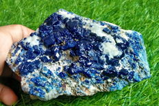 Rare Electric Blue Afghanite Mineral specimen - 148x78x66 mm - 910gm