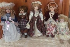 Lot of 7 dolls - Italy early 90s