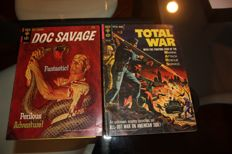 Collection Of Gold Key Comics - Doc Savage,The Addams Family,Total War, The Aliens, Magnus Robot Fighter - x8 SC - (1963/1974)