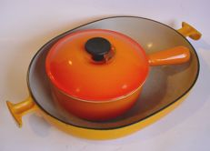 Lot of 2 enamel cast iron objects – LE CREUSET