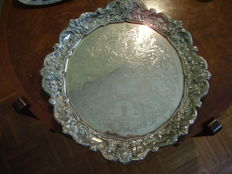 Large silver plated tray - 20th century
