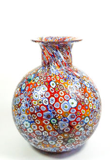 Livio Campanella (Campanella, Murano) - Large Ball-Shaped Vase with Millefiori