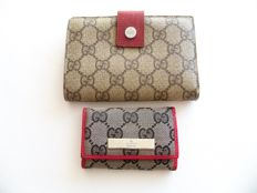 Lot of 2: Gucci bi-fold wallet and Gucci keyholder -*No Reserve Price*