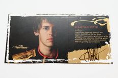 Signed Sebastian Vettel drivers card