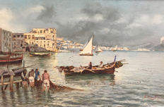 Amodio Vincenzo (active between the 1800 and the early 1900) - Marina di Napoli