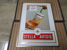 Celluloid advertising signs for Stella Artois 1972 - Whitbread 1961 - Wurzburger Hofbrau from the early 1960s