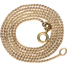 14 kt yellow gold S-link necklace, length: 44 cm.