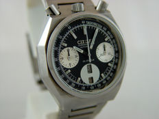Citizen Bullhead Panda Vintage Flyback Chronograph Ref: 67-9356 - Men's watch - 1970s