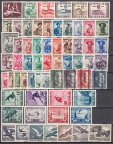 Austria 1933/1955 – lot of stamps and complete series