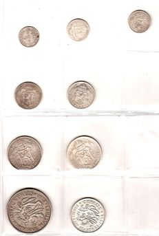 Cyprus – collection of 7 coins – 1901/1938