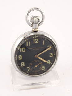 Carley & Clemence observation watch / pocket watch, British Military, WWII, 1930s