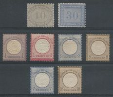 German Reich 1872 - Internal service and Eagle with large breastplate - Michel 12/13, 16, 19, 20, 22, 26, 28