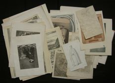 Lot consisting of ca. 49 different prints - 17th - 20th century.