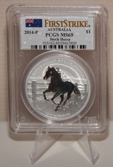Australia - Stock Horse 2014 - MS69 graded by PCGS - First Strike!