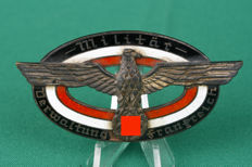 Wehrmacht large German abzeichen for employees of military administration France. No. 2681 (3)