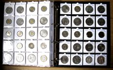Portugal – Centavo through 1000 Escudos (347 different coins) including 19x silver, in deluxe album