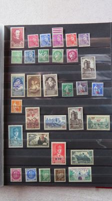 France 1937/1974 – Collection of postal, air mail, and pre-cancelled stamps