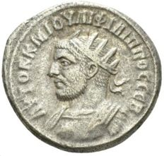 Roman Empire - Philip I, 244-249 AR Tetradrachm Antioch circa 249