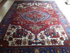 Exquisite XL Hand-knotted Persian - Heriz 345cm x 252cm !
