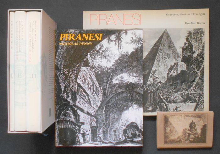 Lot with 4 expenditures about Piranesi - 1974/1992