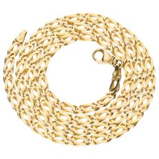 14 kt yellow gold curb link necklace - length: 57.2 cm