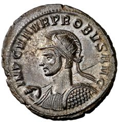 Roman Empire - Probus (276 - 282 A.D.) silvered antoninianus (3,80 g. 22 mm.) from Serdica mint, 277 D.C. VIRTVS PROBI AVG.