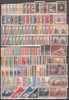 Spain 1907/1930 - Lot of stamps and complete series.