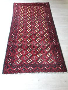 Beautiful Hand-knotted Persian - Balouch 195cm x 101cm No reserve Price! Don't miss it!
