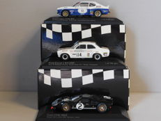 Minichamps - Scale 1/43 - Lot with 3 Ford models Capri, Escort & GT40