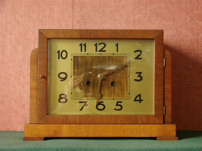 Mantle clock- German 1920's - Art deco rare