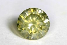 Diamond Fancy greenish yellow 0.50 carats SI1