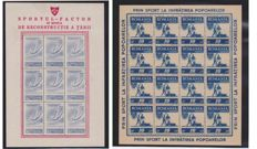 Romania 1945/1946 - complete block-sheetlet series, perforated and imperforated - Produced from the Profits of the Organisation of Popular Sports