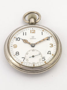 Omega observation watch / pocket watch, British Military, WWII, 1940s