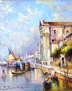 Emilio Sanchiz (20th century) - Vista de Venecia