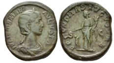 Roman Empire - Julia Mamaea, mother of Severus Alexander Sestertius circa 222-235