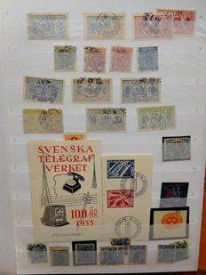 Sweden 1855/2000 – Extensive batch in six stock books