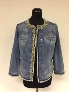 Liu Jo  – jeans jacket with pearls and chains