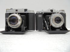 Lot of two bellows cameras: Zeiss Ikon Nettar -  Franka Solida II
