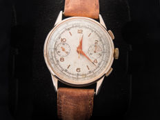 Revue Chrono bicompax Angelus 215 from the 1950s