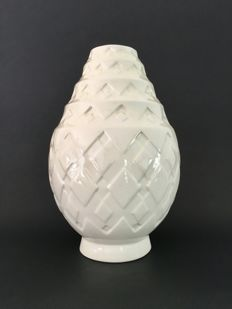 Charles Catteau for Boch Frères Keramis - Vase form decor number 1118 with geometric figures