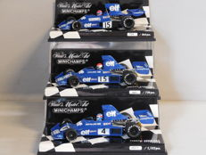 Minichamps - Scale1/43 - Lot with 3 x Tyrrell Ford 007 1975