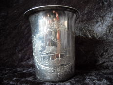 Silver hunting cup, late 19th century .